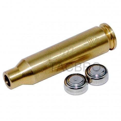 222 REM MAG Red Laser Bullet Shaped Bore Sighter Cartridge Brass Copper