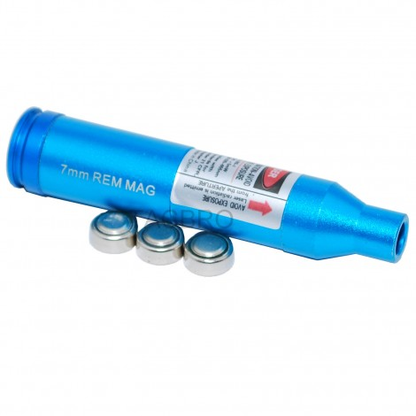 7MM Red Laser Bore Sighter MAG Cartridge Boresighter