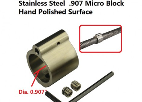 .907 Low Profile Stainless Steel Gas Block