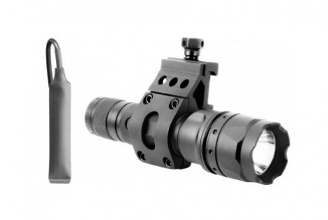 180 LUMEN FLASHLIGHT W/ 45 DEGREE OFFSET MOUNT (BLACK)