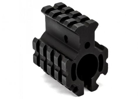"Clamp-on Quad Rail Gas Block .750"" - Black"