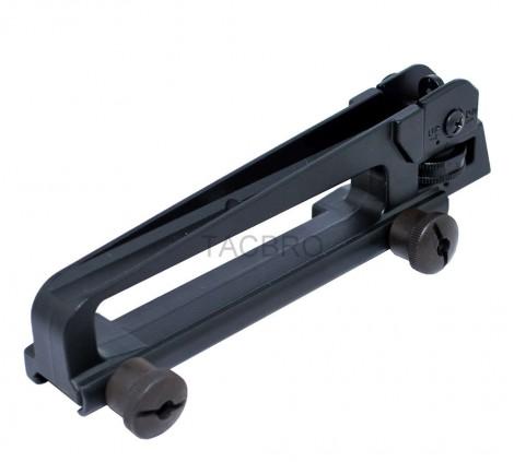 Aluminum Detachable Carry Handle w/ Rear Backup Sight, Black