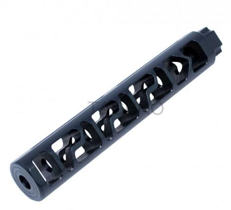 "Black Anodiezed 6"" Add On Skeleton Muzzle Brake 1/2x28 for .223"
