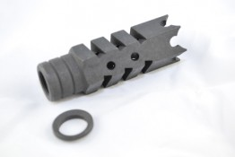 AR .223 Shark Muzzle Brake Pressure Reducer 1/2x28 Pitch Thread