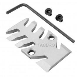 GCP-103# Raw Aluminum Trijicon RMR Cover Plate for Glock 17 19 26 Cut Slides