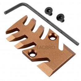 GCP-103# Tan Anodized Aluminum Trijicon RMR Cover Plate for Glock 17 19 26 Cut Slides