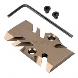GCP-105# Tan Anodized Aluminum Trijicon RMR Cover Plate for Glock 17 19 26 Cut Slides