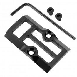 GCP-106# Black Anodized Aluminum Trijicon RMR Cover Plate for Glock 17 19 26 Cut Slides