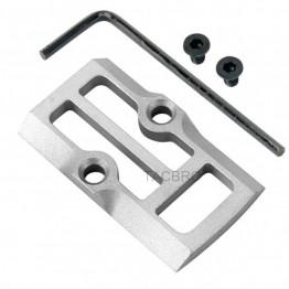 GCP-106# Raw Aluminum Trijicon RMR Cover Plate for Glock 17 19 26 Cut Slides
