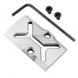 GCP-107# Raw Aluminum Trijicon RMR Cover Plate for Glock 17 19 26 Cut Slides