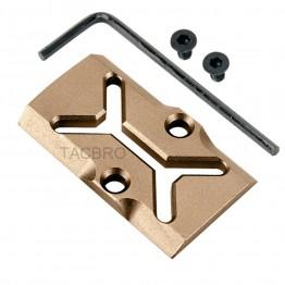 GCP-107# Tan Anodized Aluminum Trijicon RMR Cover Plate for Glock 17 19 26 Cut Slides