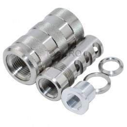 Ruger PC 9MM Muzzle Brake 1/2x28 & 13/16x16 Sound Forwarder(Stainless Steel Version)