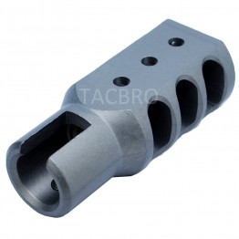 Aluminum Muzzle Brake for Ruger 1022, Gray Hard Anodized Surface