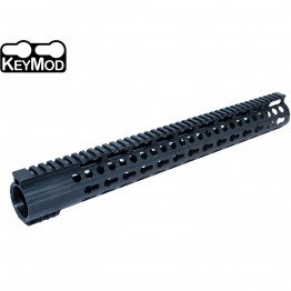 "Super Slim 16.5"" Low Profile Free Float KeyMod Handguard Full Top Rail 308 .308"