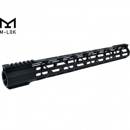 "17"" M-LOK Super Slim Ultra Light Free Float Handguard for 223 Clamp on"