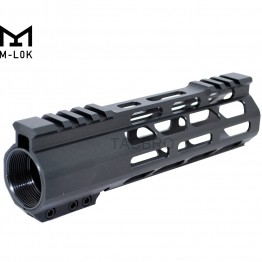 "7"" Super Slim Light M-Lok Free Float Handguard Nut /w Top Cut"