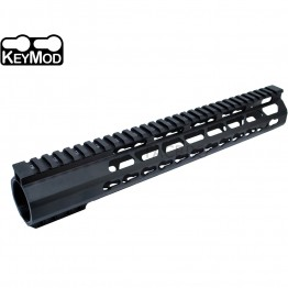 "308 Anodized 12.5"" Ultra Light Super Slim Keymod Free Float Handguard With Steel Barrel"