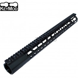 "308 Anodized 17"" Ultra Light Super Slim Keymod Handguard with Steel Barrel Nut"