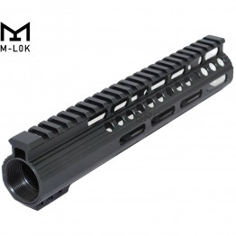 "10"" M-Lok Ultra Light Super Slim Free Float 223 Handguard with Steel Barrel Nut"