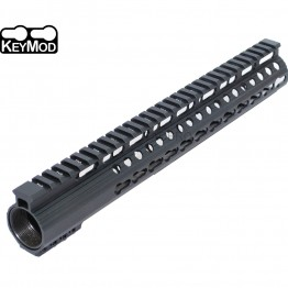 "12.5"" Keymod Ultra Light Super Slim 223 Free Float Handguard with Steel Barrel Nut"