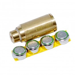 9mm CAL Red Laser Bore Sight Cartridge Brass Bullet Shape Boresighter + Battery