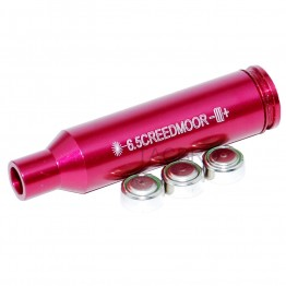 6.5 Creedmoor Red Laser Bore Sighter, Boresighter Anodized Red Battery Included