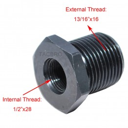 """All Steel 1/2""""x28 TPI to 13/16""""x16 Oil Filter Adapter 223"""