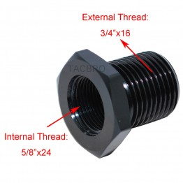 """Aluminum 5/8""""x24 TPI to 3/4""""x16 TPI Oil Filter Adapter for 308"""