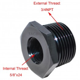 "Aluminum 5/8""x24 TPI to 3/4NPT Oil Filter Adapter for 308"