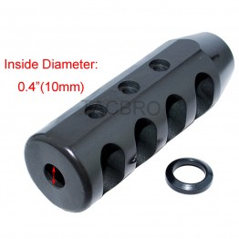 """.223 Heavy Duty Compact 4"""" Muzzle Brake 1/2""""x28 Thread Pitch for 223"""