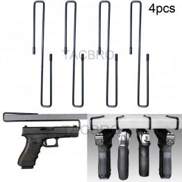 All Steel Handgun Hangers 4 PCS Pistol Rack Storage Solution Accessories