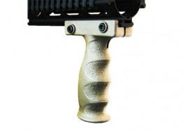Vertical Grip, Polymer, Finger Groove, Picatinny Tan
