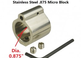 .875 Low Profile Stainless Steel Gas Block