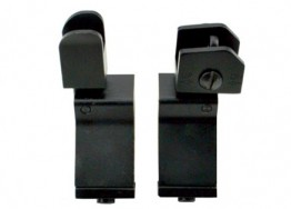 AR-15 Style Flip Up Sights, 45 Degree Offset, Aluminum Combo Set Front & Rear