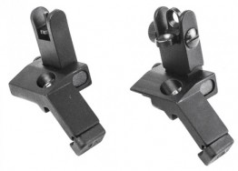 Flip Up Sights 45 Degree Mounts - Black