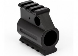 "Dual Picatinny Rail Gas Block .750"" - Black"