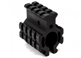 "Clamp-on Quad Rail Gas Block .750"" - Black"