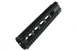 "AR15 10"" Free Floating Quadrail Oval Port Gen 2"
