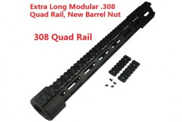 16.5 Extended Length LR308 Low Rail Height Modular Handguard