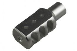 Aluminum Muzzle Brake for Ruger 1022 Threaded Barrel, Silver