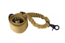 TAN ONE POINT BUNGEE RIFLE SLING