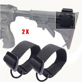 Black Tactical Single One Point D Ring Sling Strap pack of 2
