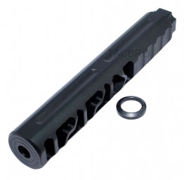 ".223 Skeleton Black Anodized Muzzle Brake 1/2""x28 Thread Pitch for 223"