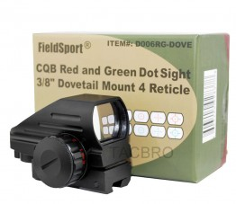 "Red and Green Micro Dot Sight 3/8"" Dovetail For Air Soft"