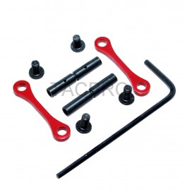 Red Complete Anti-Rotation Trigger/Hammer Pin Set Style 15/.223/5.56 10/.308/7.62