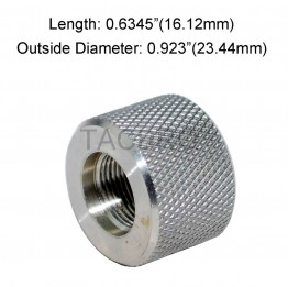 .223 Bull Barrel Stainless Steel Thread Protector, 1/2x28 Thread Pitch