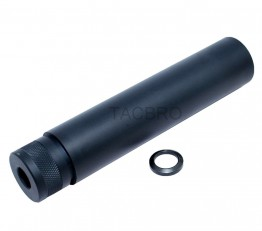"1/2""x36 TPI Threaded 6"" Barrel Extension Fake Tube Can Muzzle Brake for 9mm"