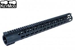 "Super Slim 16.5"" Low Profile Free Float KeyMod Handguard Full Top Rail 308 .308"