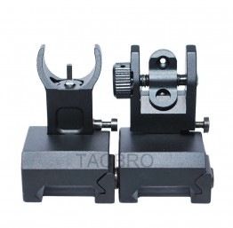 Black Anodized Aluminum Flip-up Front & Rear Sight