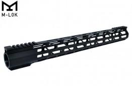 "17"" M-LOK Super Slim Ultra Light Free Float Handguard for 223 Clamp on"